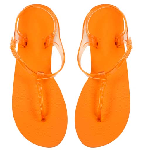 Flip-flop-sandalias-de-mujer-naranjas