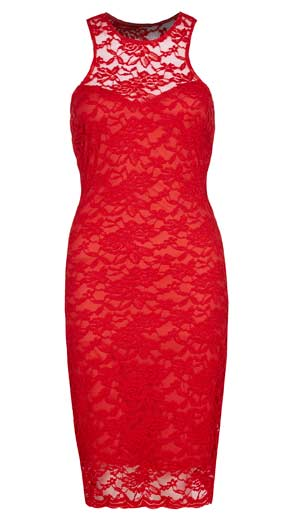 Sencillo-y-provocativo-vestido-rojo