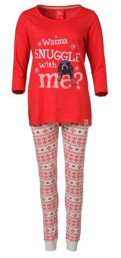Rojo-pijama-Primark-de-mujer