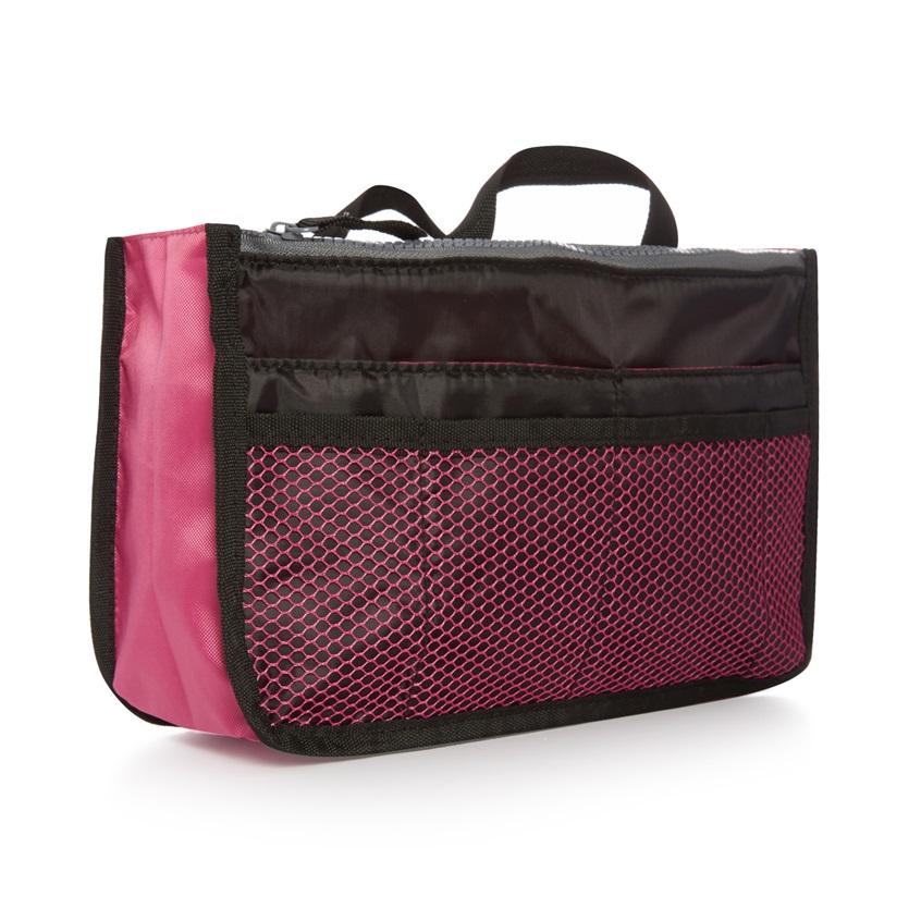 Mantén todas tus cosas esenciales ordenadas con este bolso de mano portátil. ¡Adiós desorden!