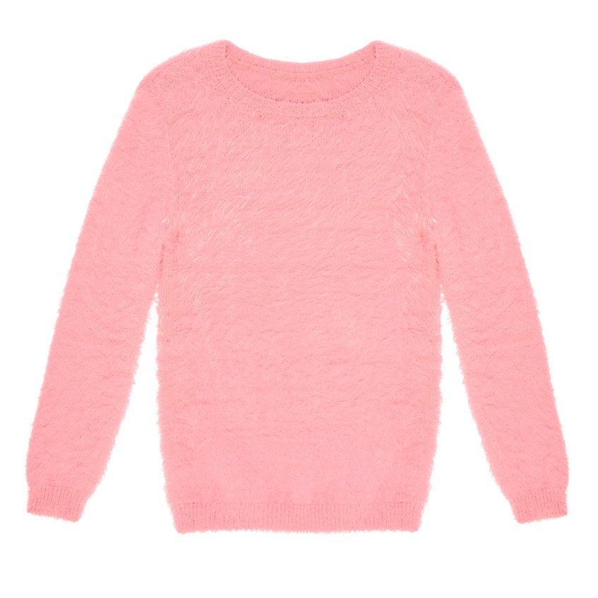 Jersey de pelo rosa de niña