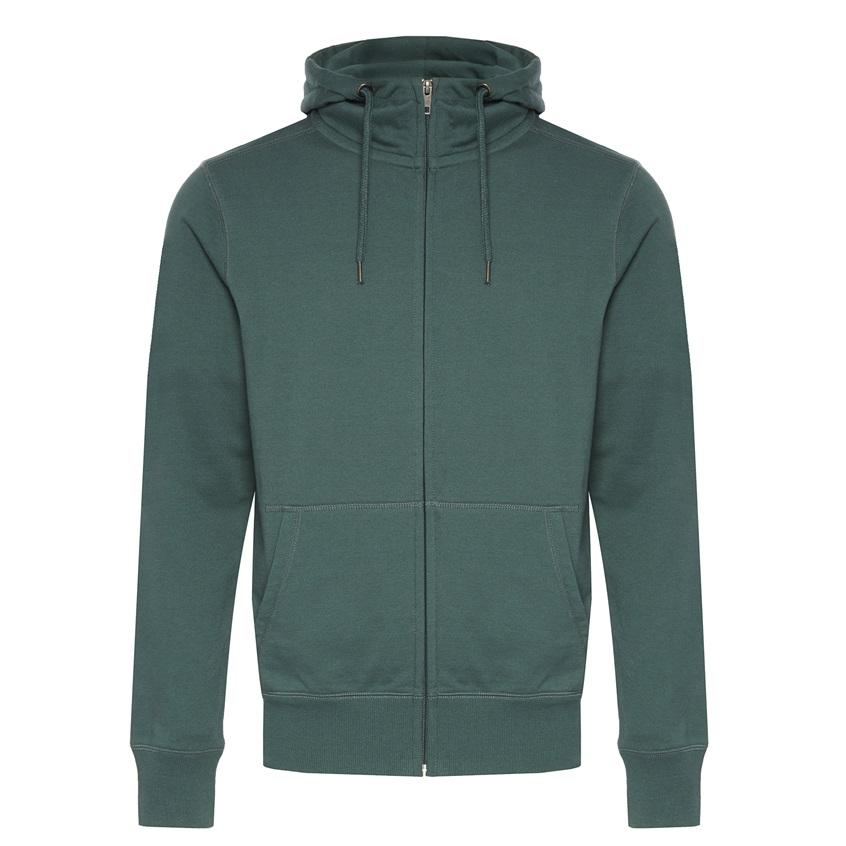 Sudadera verde con capucha de hombre