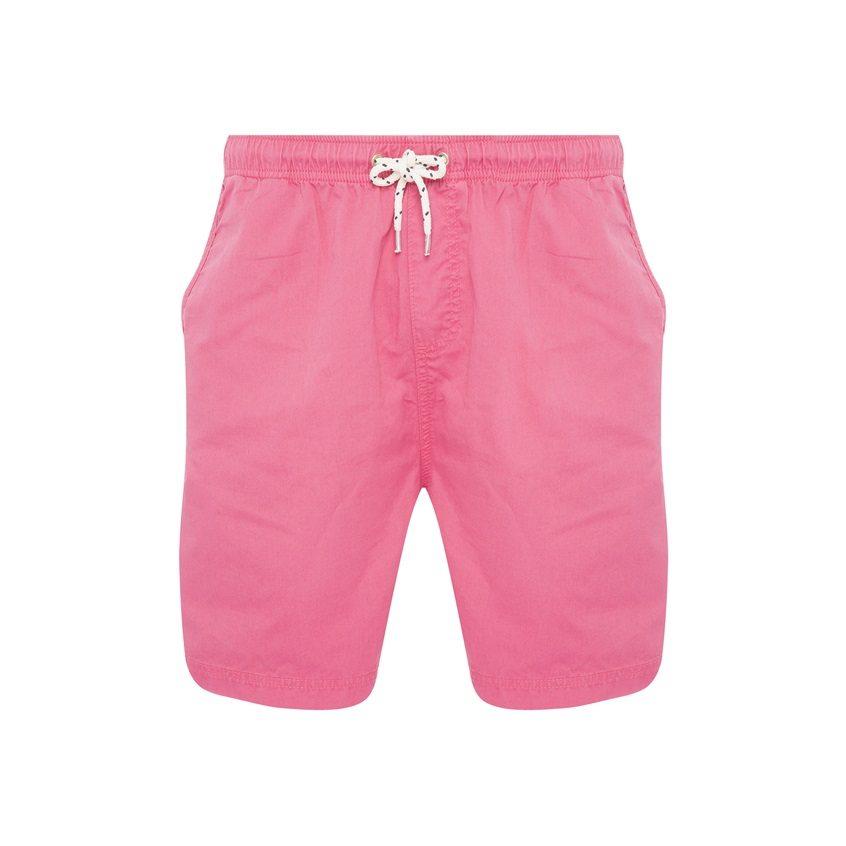 Bermudas rosas de cintura elástica