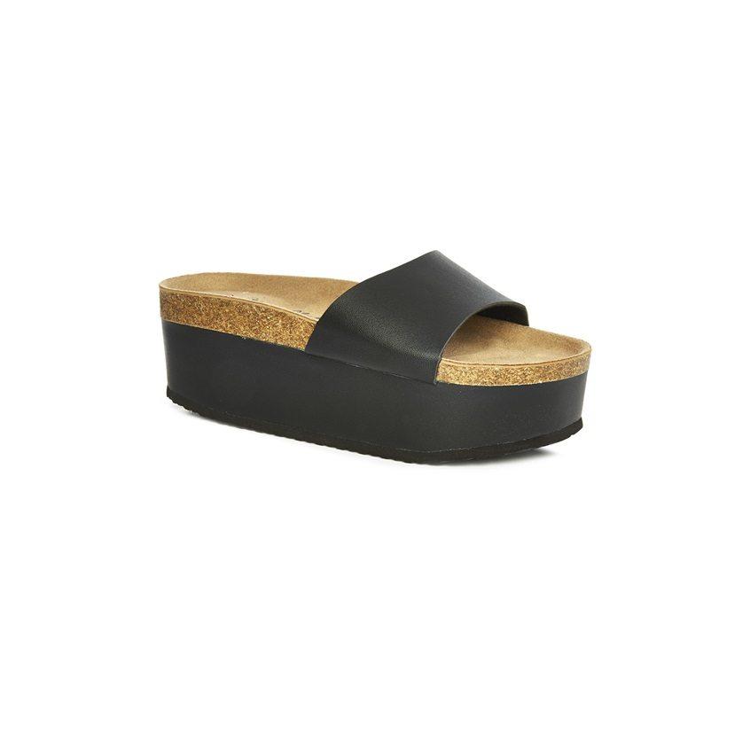 Sandalias negras de plataforma