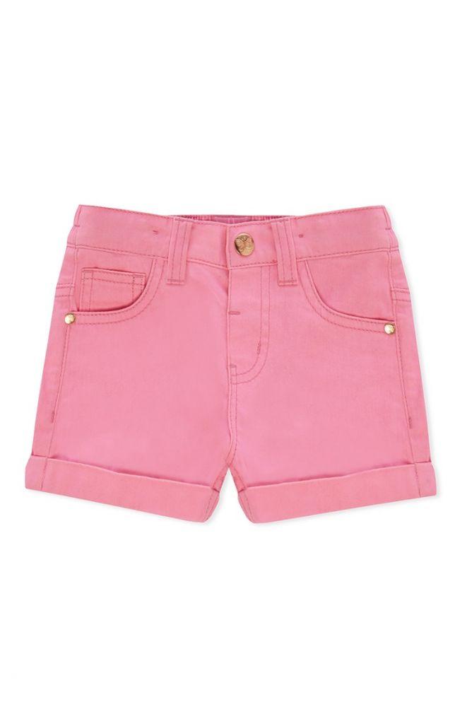 Pantalón corto de sarga rosa