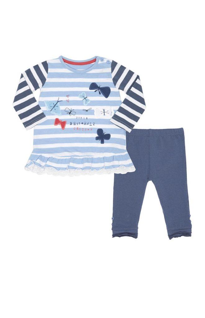 Conjunto de camiseta y leggings para recién nacido