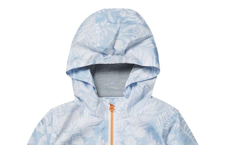 Chaqueta con capucha con estampado azul