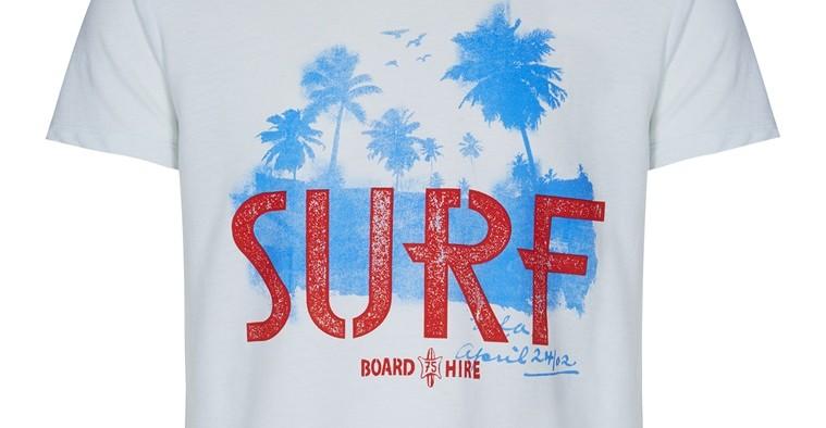 Camiseta de hombre surf primark