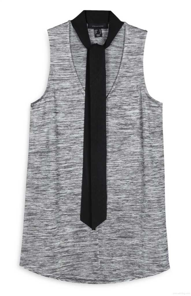 Camiseta gris metalizado con nudo 8,00€