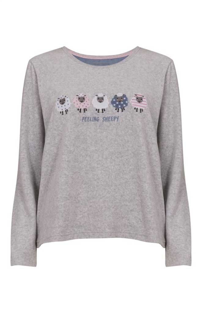 Camiseta de pijama gris de Sally Sheep 9,00€