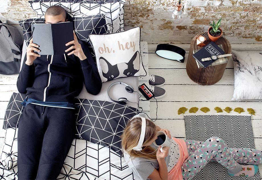 moda hogar blanco y negro