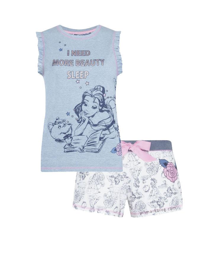 Pijama con pantal n corto de la bella y la bestia - Primark granada catalogo ...