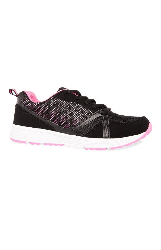 Zapatillas deportivas rosas y negras Primark