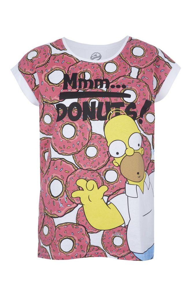 Camiseta Hombre Donuts Primark