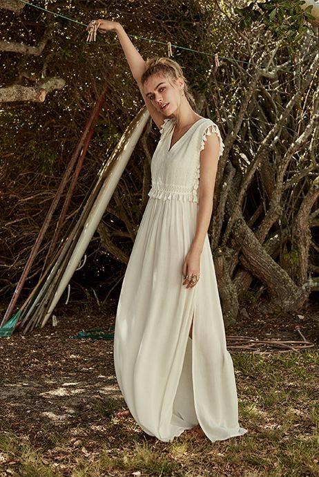 Vestido largo blanco primark