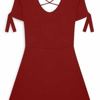 Vestido de patinadora rojo