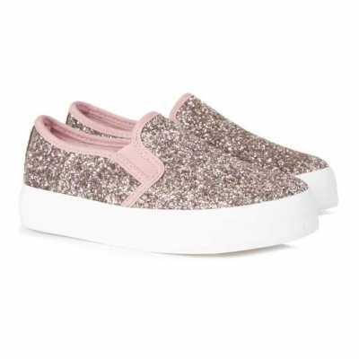 Zapatillas rosas purpurina niña pequeña 8,00€