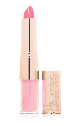 Barra de labios y brillo rosas PS