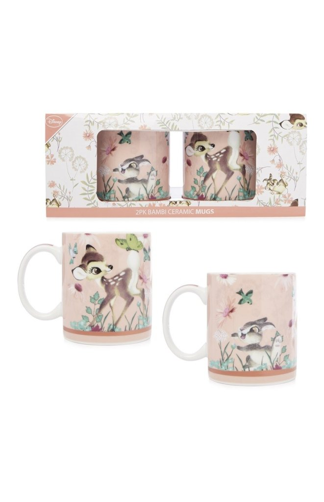 Pack de 2 tazas de Bambi / Primark