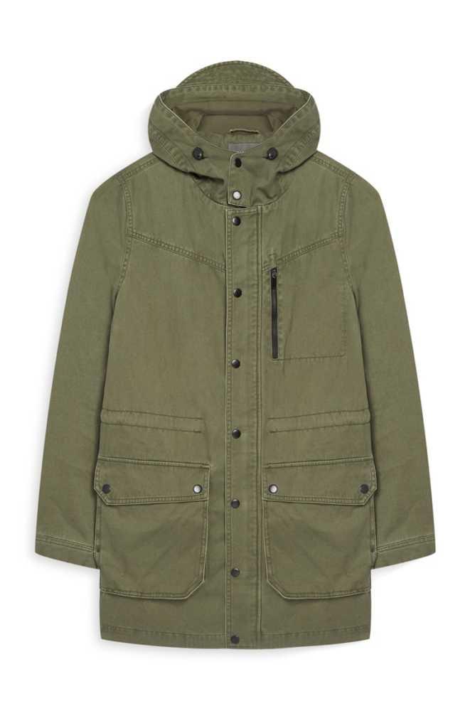 Abrigo verde nina primark