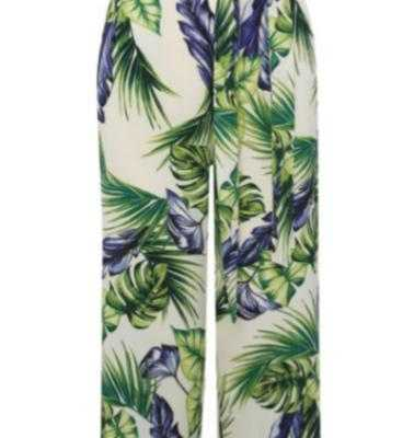 Culottes estampado tropical
