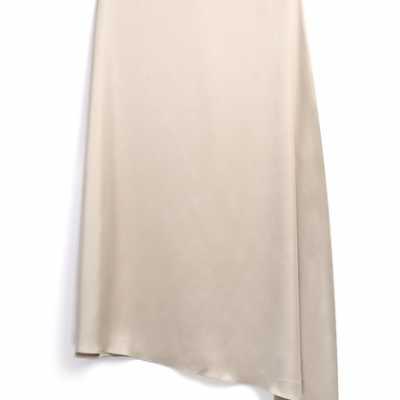 falda de saten
