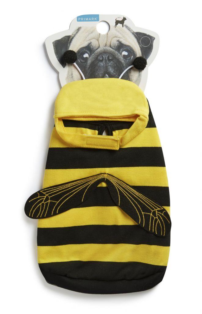 Traje para mascotas en forma de abeja. Precio 8 €
