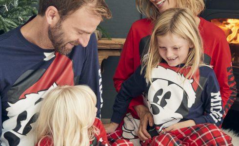 pijamas familiares a juego de Mickey Mouse