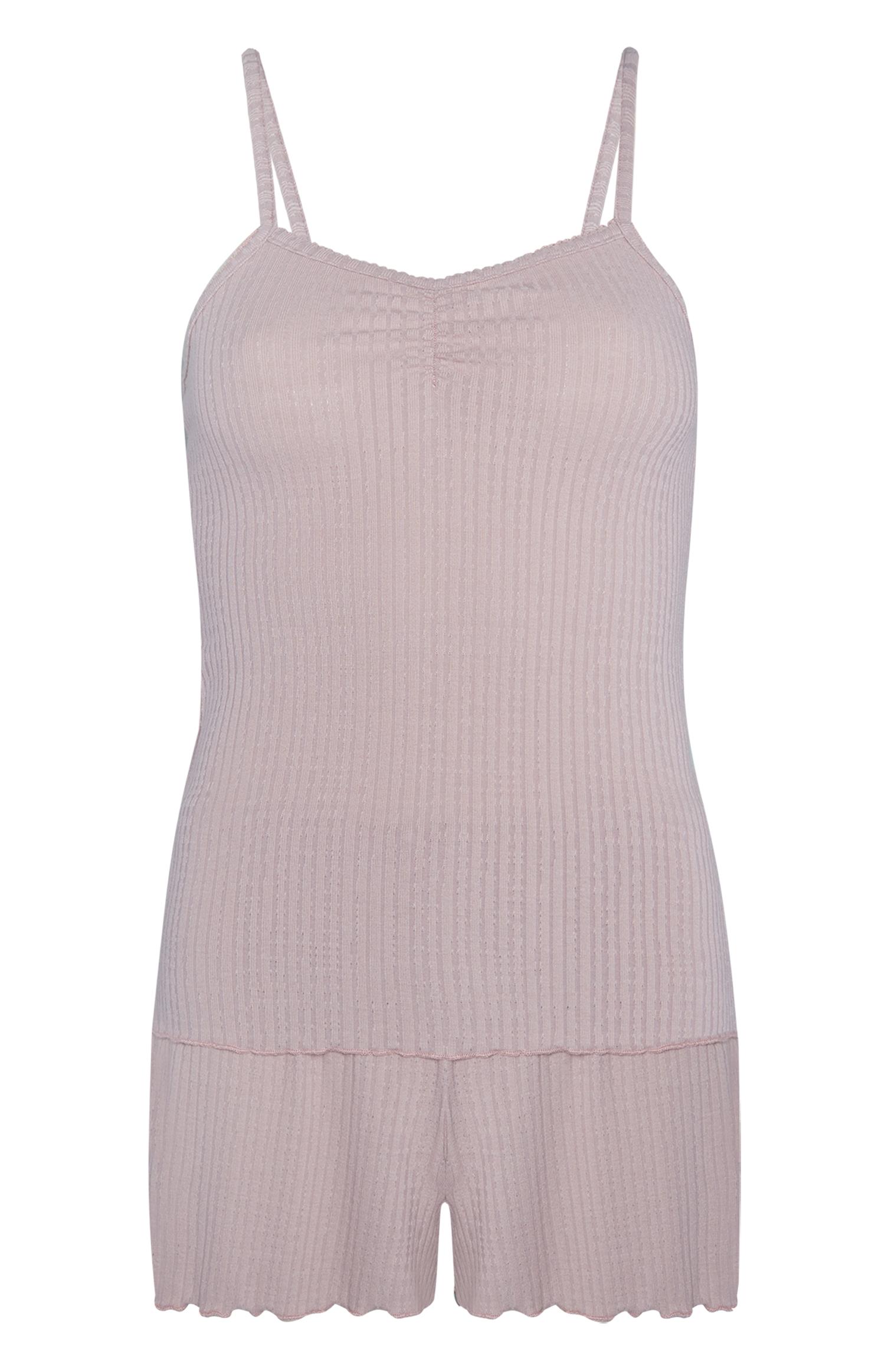 Set de camisa y short rosa